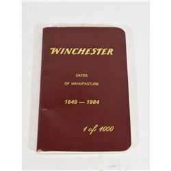 Winchester Dates of Manufacture 1849 - 1984