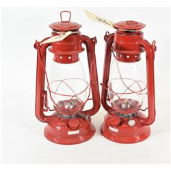 Small Hurricane Lantern (Red)