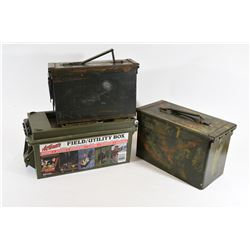 Box lot of Ammo Cans