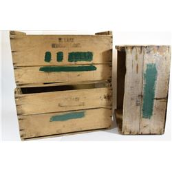 Three Vintage Wooden Crates