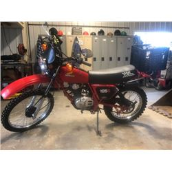 NO RESERVE EXCLUSIVE MOTORCYCLE COLLECTION 1982 HONDA XL 185S STUNNING ORIGINAL RARE SHOW ROOM