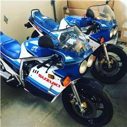 RARE MOTORCYCLE COLLECTION 0 MILE 1985 SUZUKI GSX R750F WORLD PRESS BIKE
