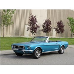 1968 FORD MUSTANG CONVERTIBLE GT TRIM PACKAGE MATCHING NUMBERS