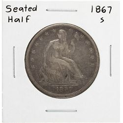 1867-S Seated Liberty Half Dollar Coin