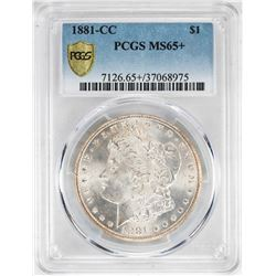 1881-CC $1 Morgan Silver Dollar Coin PCGS MS65+