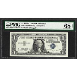 1957A $1 Silver Certificate Note Fr.1620 PMG Superb Gem Uncirculated 68EPQ
