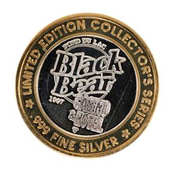 .999 Silver Black Bear Hotel $10 Casino Limited Edition Gaming Token