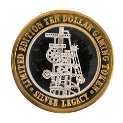 .999 Silver Silver Legacy Reno, Nevada $10 Casino Limited Edition Gaming Token