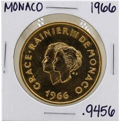 1966 Monaco 200 Francs 10th Wedding Anniversary Gold Coin