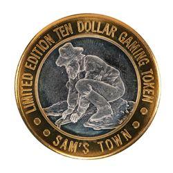 .999 Silver Sam's Town Las Vegas Nevada $10 Casino Limited Edition Gaming Token