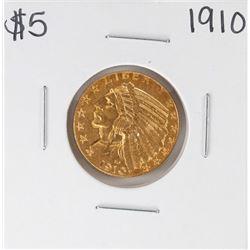 1910 $5 Indian Head Half Eagle Gold Coin