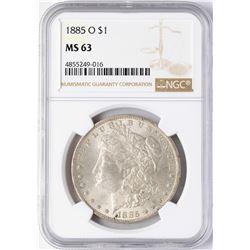 1885-O $1 Morgan Silver Dollar Coin NGC MS63