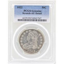 1822 Capped Bust Half Dollar Coin PCGS Genuine AU Details