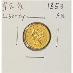 1853 $2 1/2 Liberty Head Quarter Eagle Gold Coin