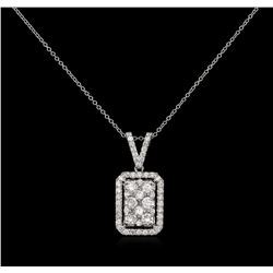 1.31 ctw Diamond Pendant With Chain - 14KT White Gold