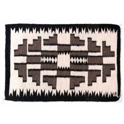 Navajo Two Grey Hills Wool Rug - Crownpoint c.1950