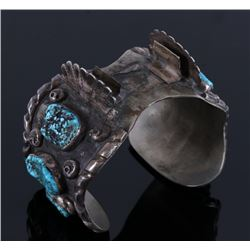 Navajo Old Pawn Sleeping Beauty Turquoise Cuff