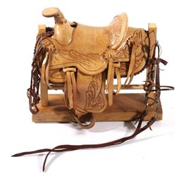 Early Salesman Sample Saddle & Tack - Hand Tooled