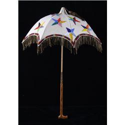 Crow Morning Star Beaded Parasol 19th Century