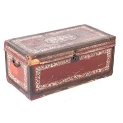 19th Century Floral Dowry Hope Chest