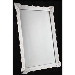 LARGE Accented Bevel Art Deco Mirror
