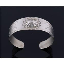 Fred Harvey Navajo Sterling Silver Bracelet