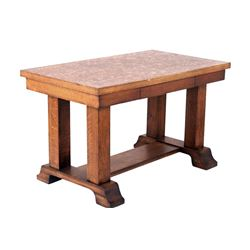 Early 1900's Mission Quartersawn Oak Library Table