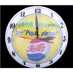 1950's Double Bubble Pepsi-Cola Advertising Clock