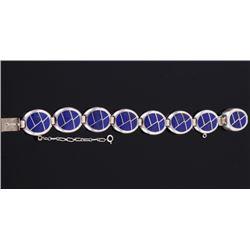 Navajo Lapis Lazuli & Sterling Silver Bracelet