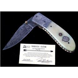 Navajo Dave Yellowhorse Damascus Chief Knife