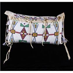 RARE Lakota Sioux Fully Beaded Possible Tipi Bag