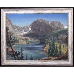 Original Carl Tolpo Loch Vale Co. Oil Painting
