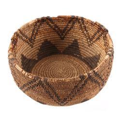 Pomo California Coast Indian Basket 19th Century