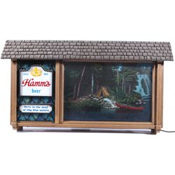 Hamm's Beer Lighted Motion Advertising Sign