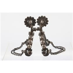 Early 1930's Hand Crafted WJB Silver Concho Spurs