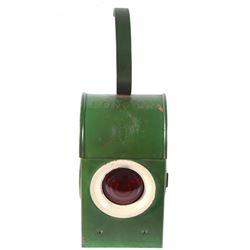 Early 20th Century London Bat Red Railroad Lantern