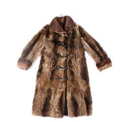 Mcibbin Stagecoach N. American Gray Fox Fur Coat