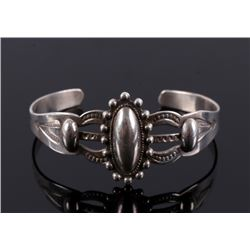 Navajo Fred Harvey Sterling Silver Bracelet c.1920