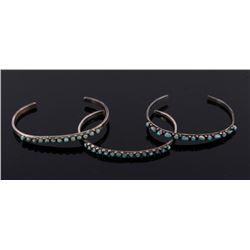 Fred Harvey Navajo Turquoise & Sterling Bracelets
