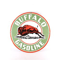 Buffalo Gasoline Porcelain Gas Station Pump Sign