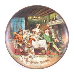 Falstaff Beer Tin Lithograph Advertising Charger
