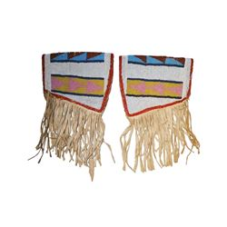 Cheyenne Fully Beaded Armband Cuffs c. 1890-1900