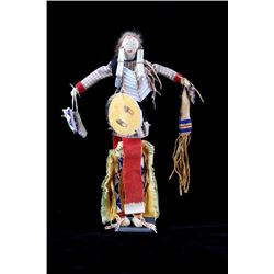 Sioux Beaded Doll w/ Immense Detail 19th C.