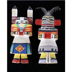 Hopi Polychrome Cottonwood Kachina Dolls 1900-1940