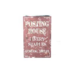 Original Posting House Livery Stables Trade Sign