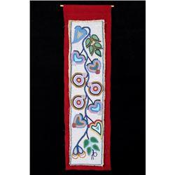 Ojibwe Fully Beaded Whimsical Panel 19th Century