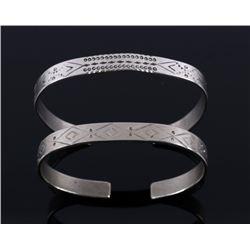 Fred Harvey Navajo Sterling Silver Bracelets