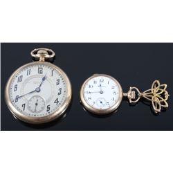 Early 1900's Hamilton & Hampden Pocket Watches