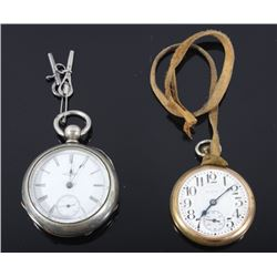 Early 1900 Pair of Elgin & Illinois Pocket Watches