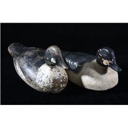 Pair of Hand Carved Goldeneye Duck Decoys